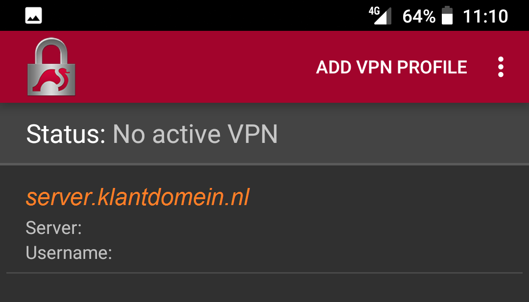 The new VPN connecion has been created