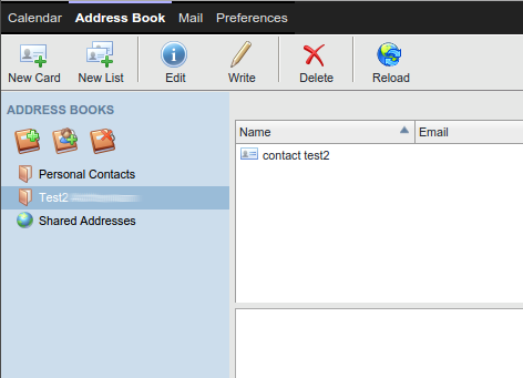 Remove a shared address book
