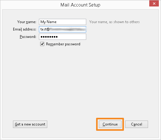 Configure your email account (1)