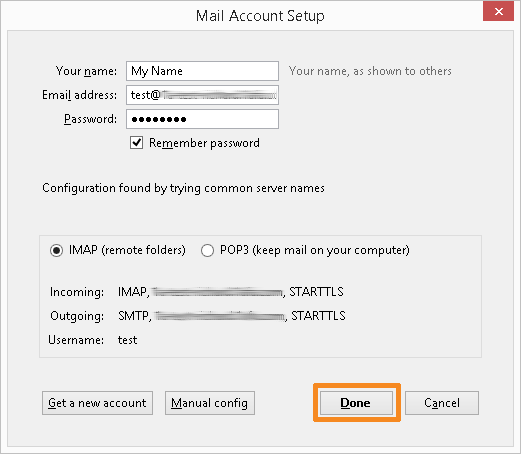Configure your email account (2)